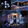 Новогодняя гирлянда 35 м 500 LED (Холодный белый цвет), фото 2