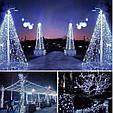 Новогодняя гирлянда 35 м 500 LED (Холодный белый цвет), фото 4