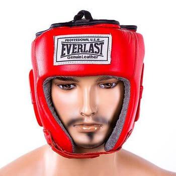 Шлем боксерский EVERLAST (кожа)