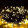 Новогодняя гирлянда 65 м 1000 LED (Теплый белый цвет), фото 2