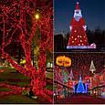 Новогодняя гирлянда 63 м 1000 LED (Красный цвет), фото 6