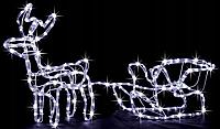 """Новогодняя гирлянда """"Олень"""" 123 см (Холодный белый + флеш)"""