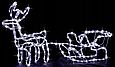 """Новогодняя гирлянда """"Олень"""" 123 см (Голубой + флеш), фото 3"""