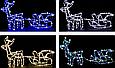 """Новогодняя гирлянда """"Олень"""" 123 см (Голубой + флеш), фото 6"""