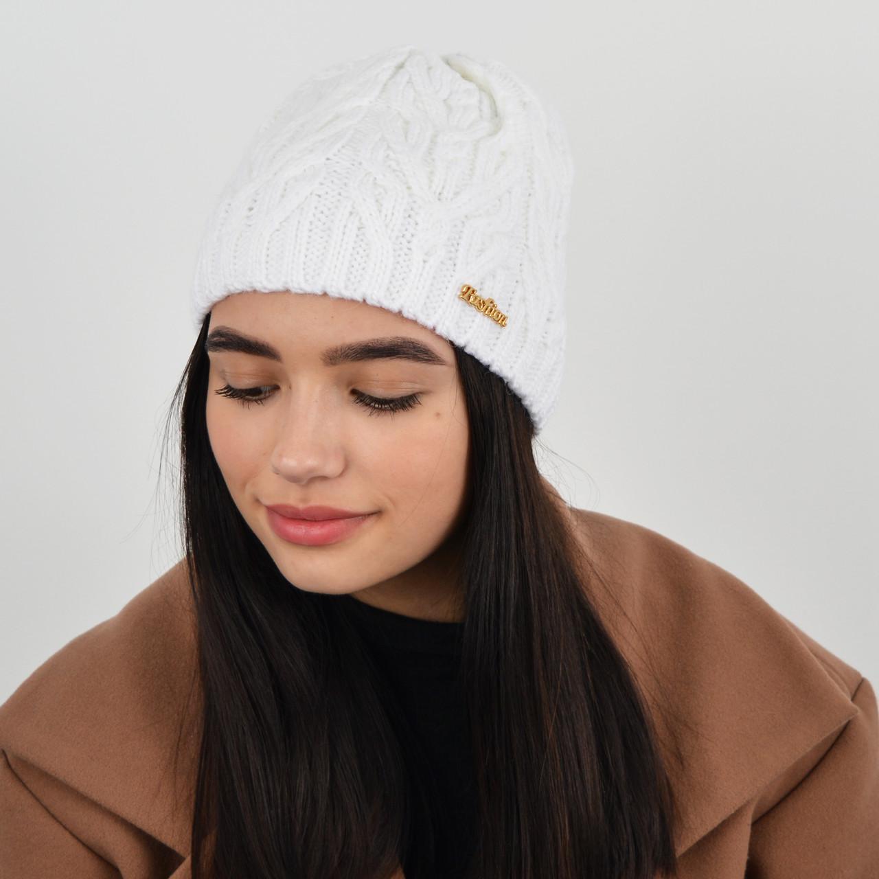 "Женская шапка ""Розмари"" Белый"