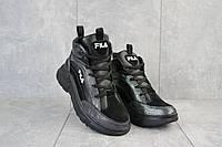 Женские кроссовки кожаные зимние черные Lions F, фото 1