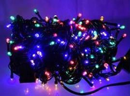 Гирлянда новогодняя на 300 лампочек светодиодная, черный провод, длина 21 м