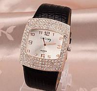 Наручные часы женские с черным ремешком код 111