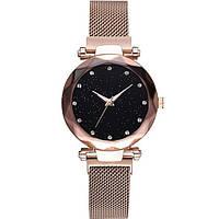 Женские наручные часы с золотистым ремешком код 474