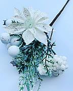 Новогоднее украшение. Бутоньерка новогодняя(16 см)