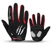 Перчатки велосипедные RockBros Monsterзакрытые, черно-красные, XL, фото 1
