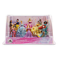 Набір фігурок з 10 принцес Disney (Рапунцель, Меріда, Бель, Жасмін, Білосніжка, Аврора)