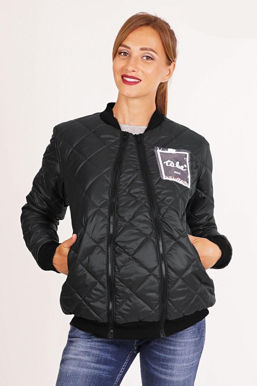 Куртка для вагітних зі вставкою чорна To Be 3041