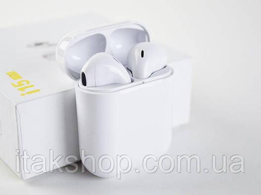 Беспроводные сенсорные Bluetooth наушники i15 max 5.0 tws с кейсом белые, фото 2