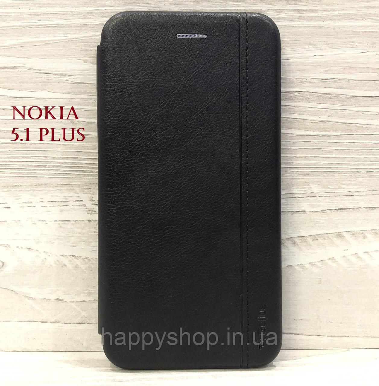 Чехол-книжка Gelius Leather для Nokia 5.1 Plus (TA-1105) Черный