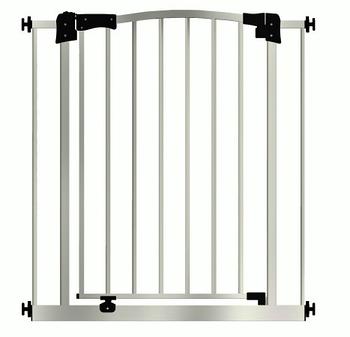 Детские ворота безопасности / перегородка Maxigate для дверного проема от 73 см до 82 см высота 107 см