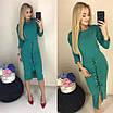 Эффектное шикарное облегающее платье со шнуровкой от талии к низу, красивая женская одежда, фото 5