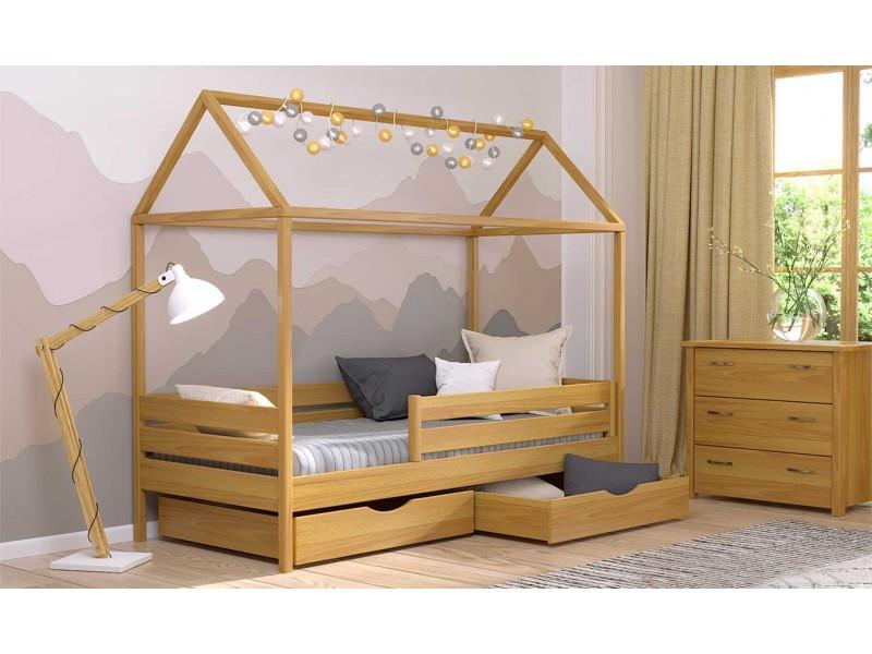 Дерев'яне ліжко будиночок Аммі