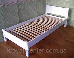 """Белая детская кровать из массива дерева """"Эконом"""" от производителя, фото 2"""