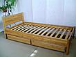 """Белая детская кровать из массива дерева """"Эконом"""" от производителя, фото 5"""