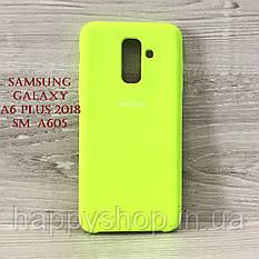 Оригинальный чехол Soft touch для Samsung Galaxy A6 Plus 2018 (SM-A605) Lime