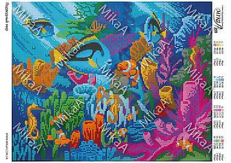 """Схема для полной зашивки бисером - """"Подводный мир"""""""