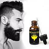 Масло для быстрого роста бороды и усов  Beard Oil, фото 2