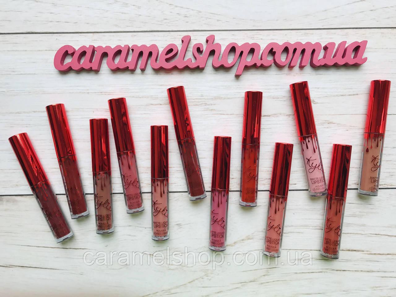 Набор стойких жидких матовых помад Kylie Short Lip 12 цветов реплика