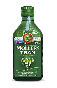 Mollers tran omega-3 норвежский рыбий жир от 3 лет и взрослых натуральный без добавок  250 мл