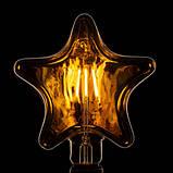 Ретро Лампа Horoz RUSTIC STAR 6W Filament led E27, фото 2