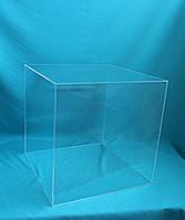 Куб акриловый для музея витрина прозрачная