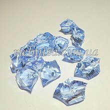 """Декоративный кристалл-бусина """"Искусственный лед"""" , 5 шт, 3 х 2,4 см, цвет голубой ледяной"""