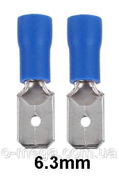 """Коннектор плоский MDD 2-250(8) с частичной изоляцией """"папа"""" (1,5-2,5 мм²/6,3-0,8 мм)"""