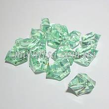 """Декоративный кристалл-бусина """"Искусственный лед"""" , 5 шт, 3 х 2,4 см, цвет холодная мята"""