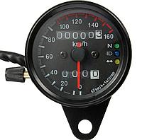 Аналоговий спідометр для мотоцикла , мото приборна панель,універсальний спідометр, 12 В, 0-160 КМ