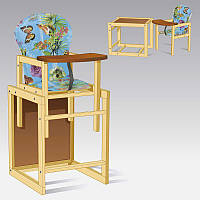 Стульчик большой 12 Бабочки цвет голубой 1 ТМ Мася - 181734
