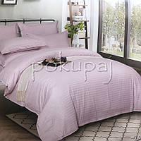 Комплект постельного белья Krispol страйп сатин люкс 200*220 евро стандарт 543405 с