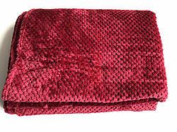 Плед покрывало полоска из бамбукового волокна евро 200*230 разные цвета (код 721-4)