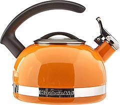 Чайник KitchenAid KTEN20CBDO 2.0-Quart Kettle with C Handle and Trim Band - Mandarin Orange