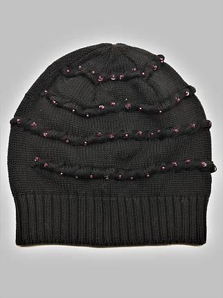 Тонкая шапка Mollin 1216 One Size черная, фото 2