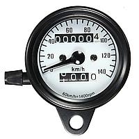 Механічний спідометр для мотоцикла , мото приборна панель,універсальний спідометр, білий, 12 В, 0-160 КМ