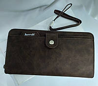 Клатч/кошелек шоколадного цвета, унисекс, фото 1