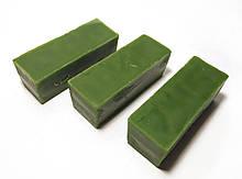 Кольоровий зелений бджолиний віск для виготовлення свічок, розпису писанок. Ціна за 100 грам.