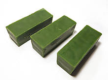 Цветной зеленый пчелиный воск для изготовления свечей, росписи писанок. Цена за 100 грамм.