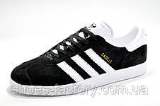 Мужские кроссовки в стиле Adidas Gazelle, Black\White, фото 2