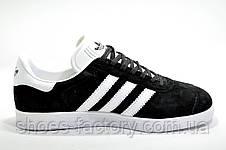 Мужские кроссовки в стиле Adidas Gazelle, Black\White, фото 3