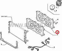 Диффузор без вентилятора 1.3MJTD-1.9MJTD Doblo 51755591