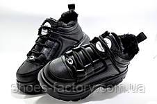 Зимние кроссовки на высокой платформе, Женские на меху, фото 3