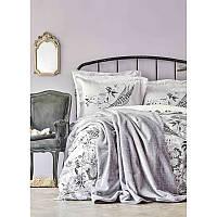 Набор постельное белье с покрывалом Karaca Home - Arden siyah 2020-1 черный евро