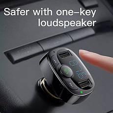 Автомобільний FM-трансмітер Baseus S-09A модулятор USB автомобільний зарядний пристрій Black, фото 3